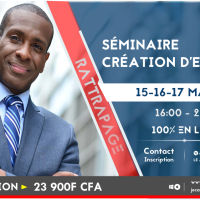SÉMINAIRE CRÉATION D'ENTREPRISE | Rattrapage >> 15-16-17 MAI 2019 | 16:00 - 20:00.